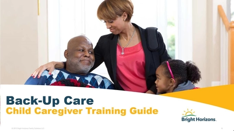 Thumbnail for entry Back-Up - In Home - Caregiver Training Guide