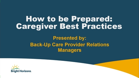 Thumbnail for entry Caregiver Best Pratices