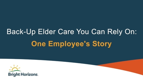 Thumbnail for entry Back up Elder Care