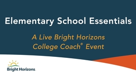 Thumbnail for entry Elementary School Essentials – Live Event