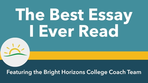 Thumbnail for entry Best Essay Rebrand