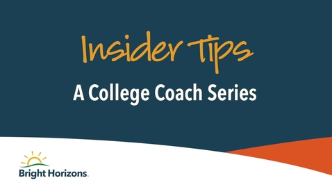 Thumbnail for entry Insider Tips-Preparing for a One-on-One