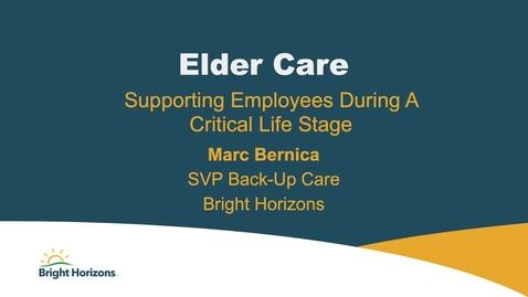 Thumbnail for entry NY Client Forum - Bernica - Elder care