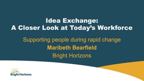Thumbnail for entry NY Client Forum - Maribeth Bearfield - Changing Workforce