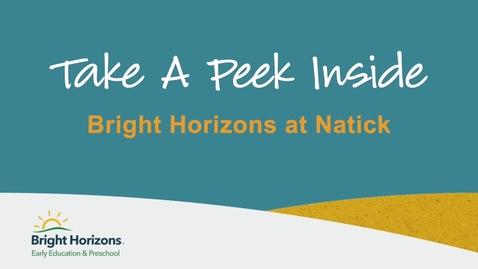 Thumbnail for entry Take A Peek Inside Bright Horizons at Natick