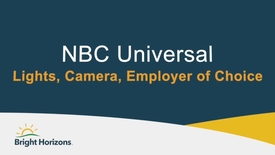 Thumbnail for entry NBC Universal: Lights, Camera, Employer of Choice