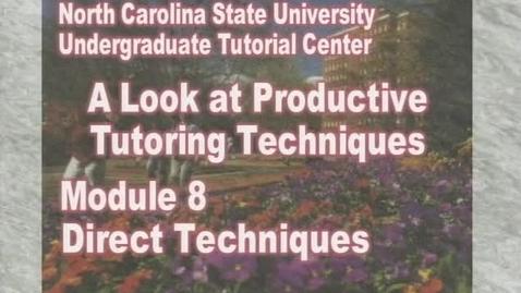 Thumbnail for entry Module 8: Direct Techniques