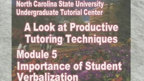 Thumbnail for entry Module 5: Importance of Student Verbalization