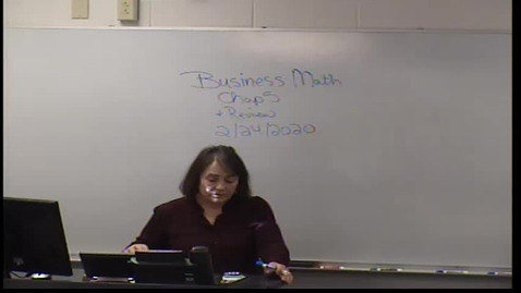Thumbnail for entry Business math Chapter 5 and review of Chapter 4