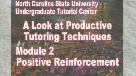 Thumbnail for entry Module 2: Positive Reinforcement