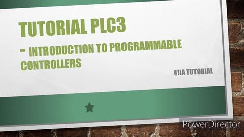 Thumbnail for entry WEEK 12 PLC3 Tutorial v1