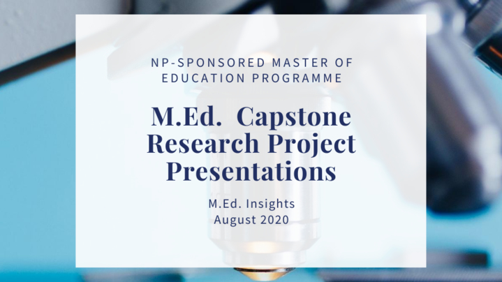 Thumbnail for channel M.Ed. Insights 2020