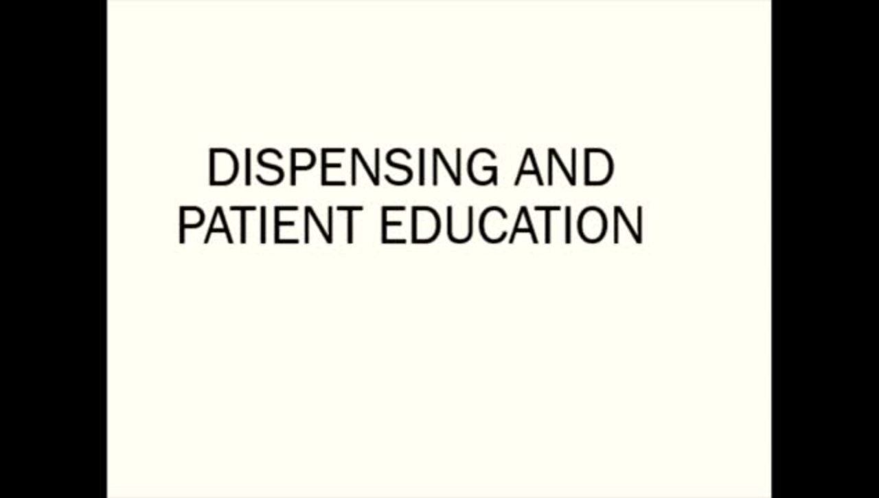 Dispensing bifocal  and educating patient about bifocal
