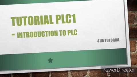 Thumbnail for entry WEEK 7 PLC1 Tutorial