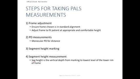 Thumbnail for entry Pal Fitting Measurements
