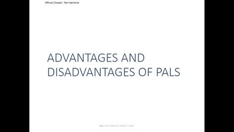 Thumbnail for entry Advantages and disadvantages of PALS /Selection of frame and Pals for patient