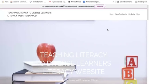 Thumbnail for entry Sample Literacy Website vid