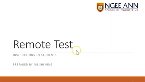 Thumbnail for entry Remote Test Instructions