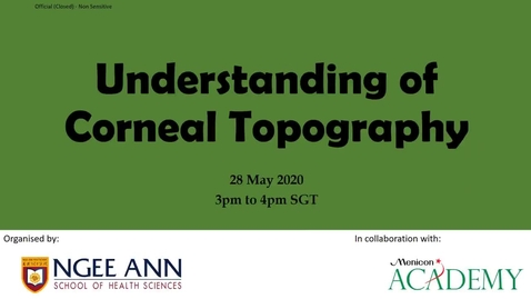 Thumbnail for entry Understanding of Corneal Topography - Quiz