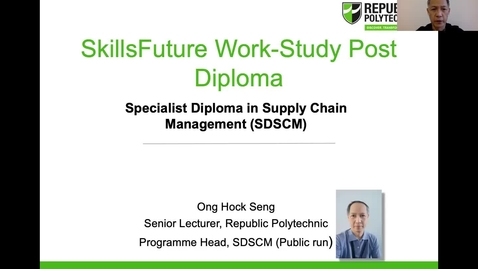 Thumbnail for entry Work Study Programme (WSP) Specialist Diploma in Supply Chain Management