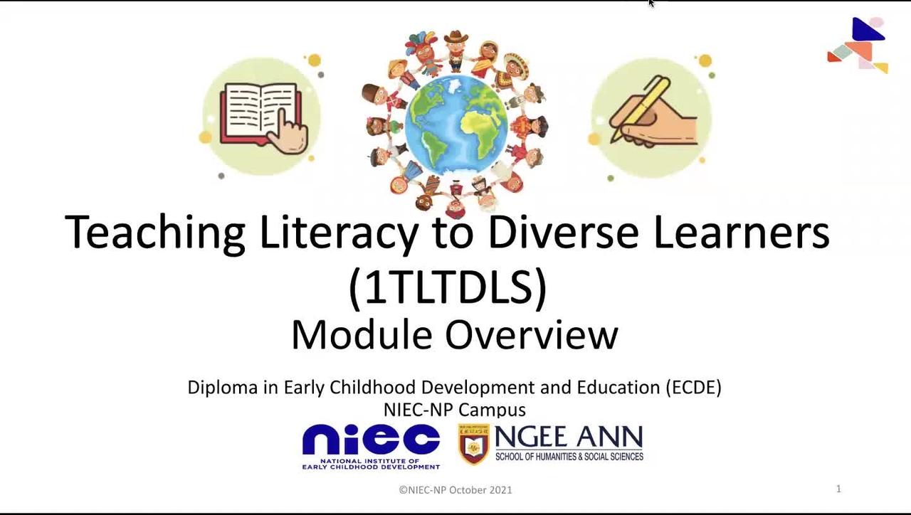1TLTDLS_Lecture 1 Module Overview