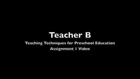 Thumbnail for entry Teacher B