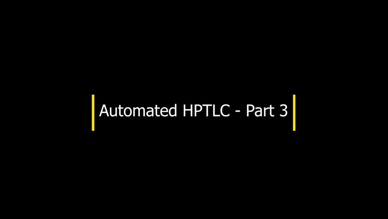 HPTLC- Part 3 - Sample application (cont'd)