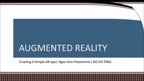 Thumbnail for entry 50IRP3_Augmented Reality Lab 1