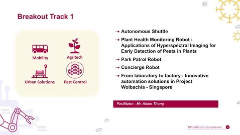 Thumbnail for entry NP Robotics e-Symposium Breakout Track 1