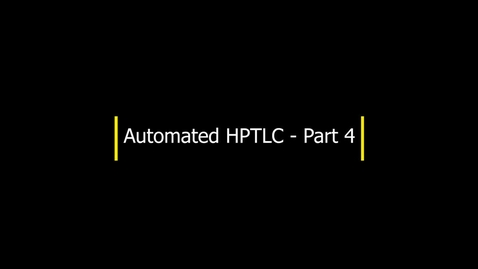 Thumbnail for entry HPTLC - Part 4 - Developing the plate