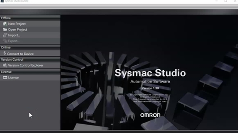Thumbnail for entry Omron Sysmac PLC Simulation