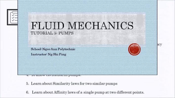 Week 14: Tutorial 5 Pumps