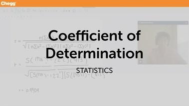 Coefficient Of Determination