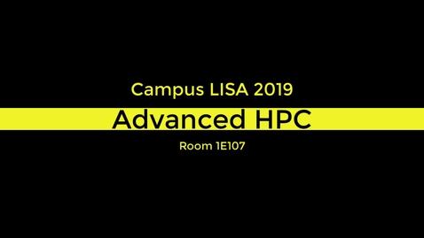 Thumbnail for entry Advanced HPC