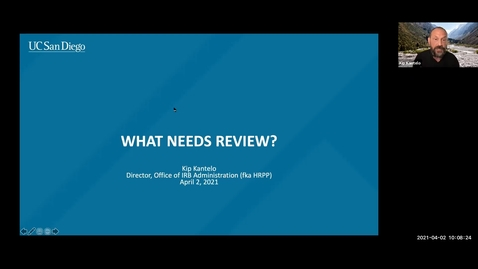 Thumbnail for entry Kuali IRB Policy Session: What Needs Review (Medical Research)