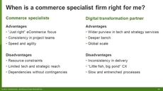 How To Select A Commerce Specialist Service Provider
