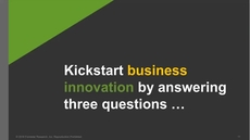 Fuel Your Disruptive Innovation Using Forrester's Business Innovation Canvas