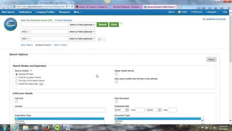 Thumbnail for entry Using an EBSCO Database_ Business So