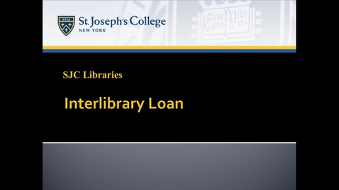 Thumbnail for entry Interlibrary Loan