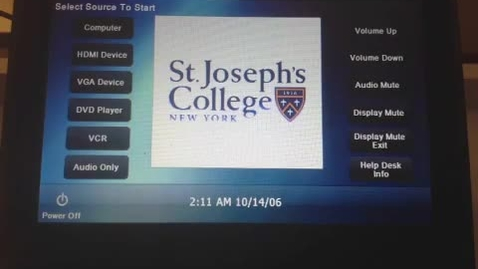 Thumbnail for entry Classroom Touch Panel