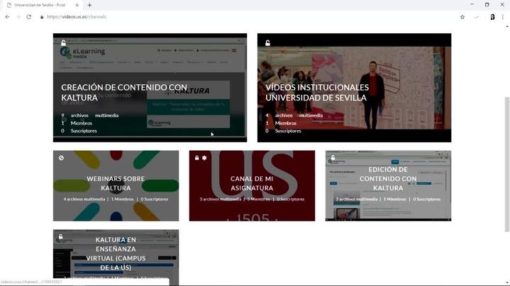 Miniatura del canal Portal videos.us.es