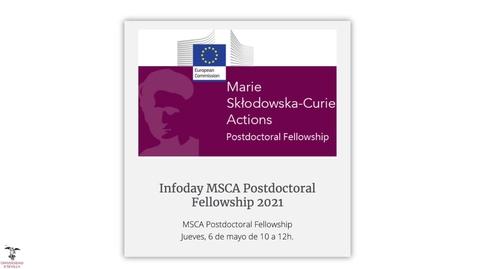 Miniatura para la entrada Infoday MSCA Postdoctoral Fellowship 2021