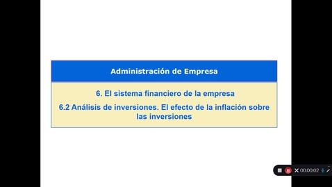Miniatura para la entrada Tema 6. El sistema financiero de la empresa. 6.2 Análisis de inversiones. El efecto de la inflación sobre las inversiones (IV)