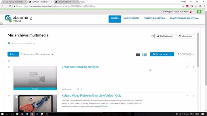 Miniatura del canal Edición de contenido con Kaltura