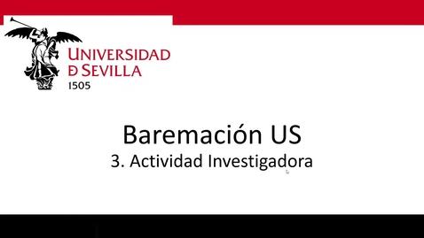 Miniatura para la entrada Bareprof 3 Actividad Investigadora