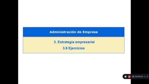 Miniatura para la entrada Tema 3 . Estrategia Empresarial. 3.8 Ejercicios