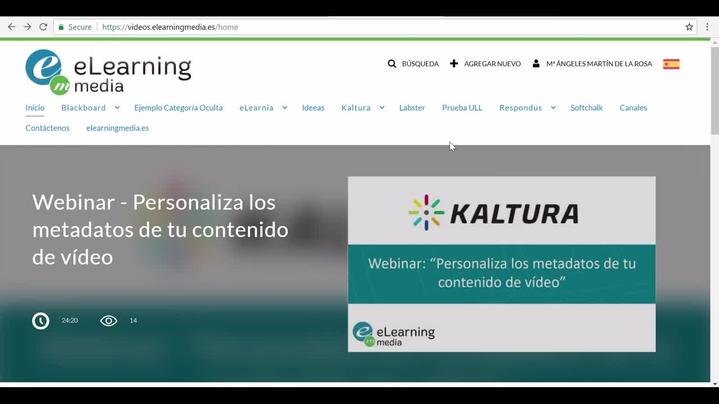 Miniatura del canal Creación de contenido con Kaltura