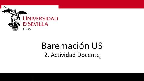 Miniatura para la entrada Bareprof 2 Actividad Docente