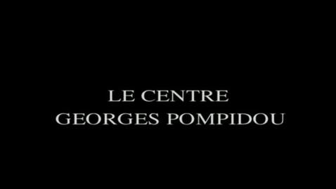 Miniatura para la entrada Le Centre Georges Pompidou