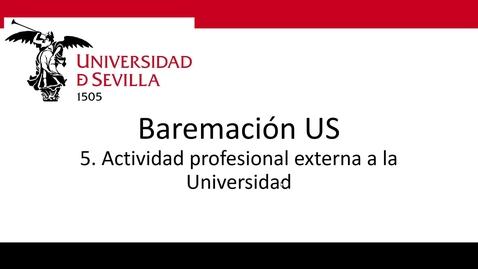 Miniatura para la entrada Bareprof 5 Actividad Profesional Externa
